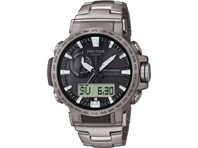 CASIO PRO TREK PRW-60T-7AER Reloj Hombre, silver/silver/black